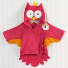 Little Night Owl' Hooded Terry Spa Robe for Baby.