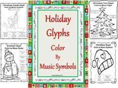 MUSIC SYMBOL GLYPHS - Five in the set. Each image available using North America and British terminology. Each image also comes without the symbols so you or the students can create their own version. $