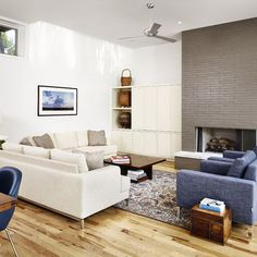 Modern Living Room Brick Design, Pictures, Remodel, Decor and Ideas