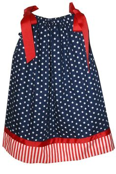 Star Spangle Banner Cutie! Love the Red, White and Blue matching hair bow too!