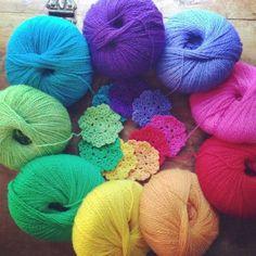 woolyana rainbow #crochet motifs