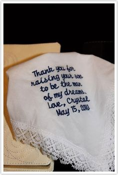 I love this idea for the Mother of the Groom!