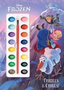 Disney Frozen – Thrills & Chills! (Deluxe Paint Box Book) #disneyfrozen #disneyfrozenanna #disneyfrozenolaf #disneyfrozenkristoff