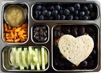 """almost 1,200 photos of kids' lunch ideas.  However, one great feature of the site is that she has a """"tag cloud"""" where you can see pictures by ingredient."""
