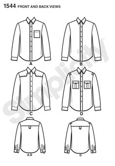 Simplicity Creative Group - Men's Shirt with Fabric Variations