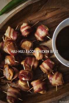 Huli-Huli Bacon Chicken Bites Recipe for #CaptainsTable Only the easiest appetizer to make for the big Game Day weekend!