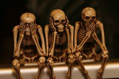 see no evil...I am going to try this with Dollar store skeletons...