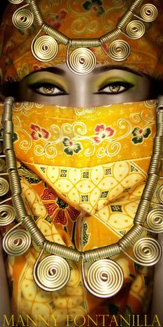 veiled in yellow & gold