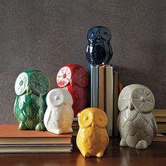 St. Jude® Ceramic Owls #WestElm westelm, children, hous, ceramics, ceram owl, owls, west elm, hospitals, christmas gifts