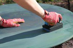 refinishing metal patio furniture
