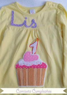 Camiseta Cumpleaños!! / Cosetes de Marta - Artesanio