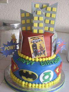 Super Hero Birthday Cake