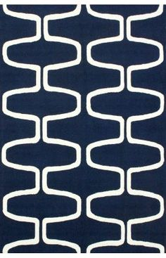 Rugs USA Homespun Trellis Navy Rug