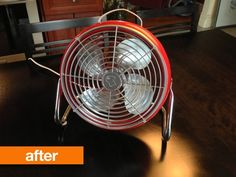 Before & After: Jérémy's Painted Vintage Fan