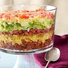 taco salad, 8layer taco, salad recipes, summer dinners, food, tacosalad, ground turkey recipes, healthy recipes, salads