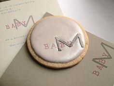 SweetAmbs Monogram cookies