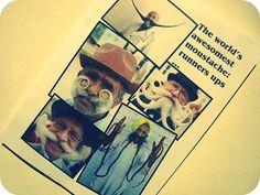 mustach poster, parti idea