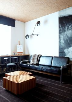 Ace Hotel Leather Couch Remodelista