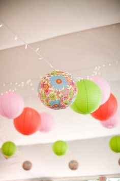 Cute lighting for basement playroom