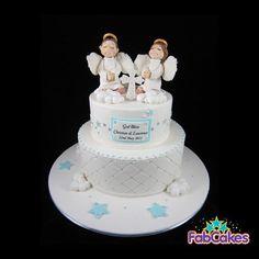 twin christen, cake porn, cup cake, christening cakes, christen cake, baptism cake, cake babi