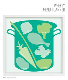 Weekly Menu Planner made with my Silhouette by Amy Robison