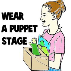 How to Make a Wearable Puppet Stage « Cardboard Boxes « Crafts With « Kids Crafts & Activities