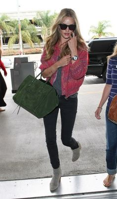 Rosie Huntington-Whiteley looking just perfect and casual at the same time while on-the-go !