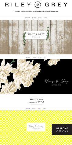 Riley & Grey Customizable Wedding Websites  Read more - http://www.stylemepretty.com/2013/08/03/riley-grey/