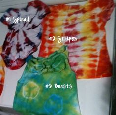 how to tye dye patterns