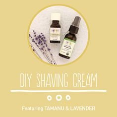 Make your own homemade shaving cream with this recipe featuring tamanu oil and lavender essential oil.