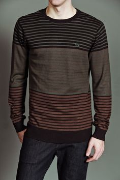 RVCA Clothing Scorpius Pullover Sweater Deep Moss