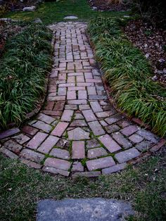 Brick Path with fan-shaped accent.