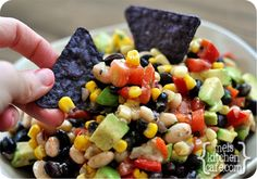 Amazing Shrapnel Dip...a twist on my favorite black bean corn dip.  Better with olive oil and apple cider vinegar
