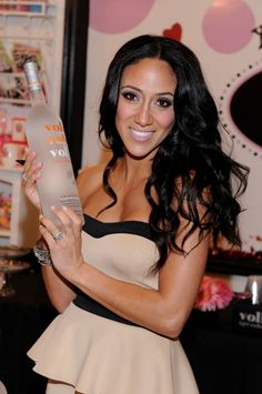 Real Housewives Melissa Gorga noshes on Voli Vodka-infused cupcakes