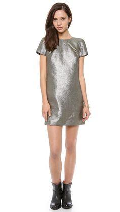 Madewell Metallic T-Shirt Dress