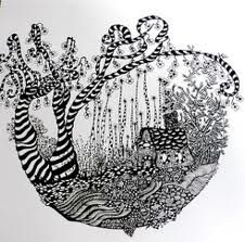 christmas zentangle designs - Google Search