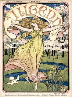 Art Nouveau poster by Alphonse Mucha.