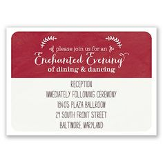 Invite guests to an enchanted evening with this reception card #FairyTaleWedding #OnceUponATime #DavidsBridal http://www.invitationsbydavidsbridal.com/Wedding-Invitations/Wedding-Stationery/2947-DBR35630-Homespun-Quilt--Reception-Card.pro?&sSource=Pinterest&kw=OnceUponATime_DBR35630
