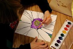 Georgia O'Keeffe art for kids--great summer project.  Check out book about the artist at the library, have a small lesson about her and her art, then make the project.