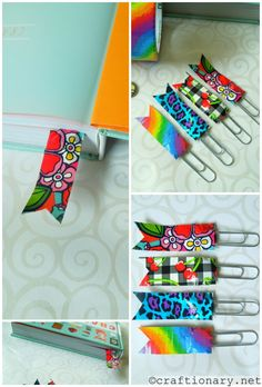 diy duct tape bookmarks..swaps?  to use in journey books? Washi?