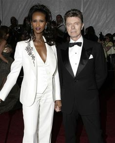 David Bowie and Iman.  Married 22 years.