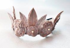 Felt Crown leaf and