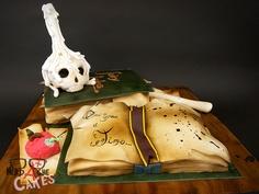 supernatural fondant cake