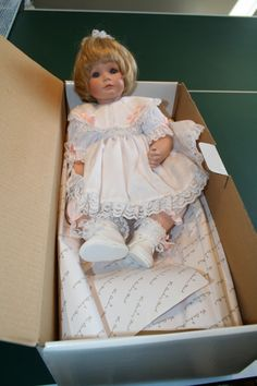 "The Danbury Mint Porcelain Version of Susan Wakeen's ""Little One"" Doll. The Vinyl version is a Limited Edition. (I own 3#Porcelain and 1#L.E. ""Little One"" Dolls)"