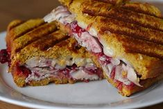 Thanksgiving Leftovers: Turkey, Cranberry, Brie Panini