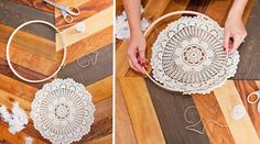Recycled Wedding Decor DIY: Doily Dreamcatchers
