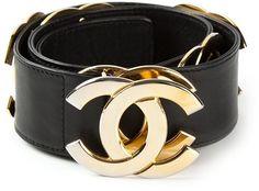 Chanel Vintage logo belt