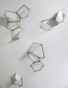 wall installation, wall art, model, dispers wall, geometric installation