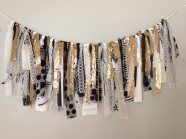 black and gold sequin garland