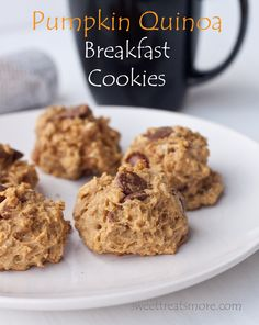 Pumpkin Quinoa Breakfast Cookies. Cook ahead of time and freeze. Grab and go in the am!